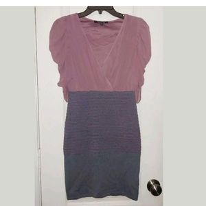 S WOW Couture Purple Gray Bodycon Party Dress